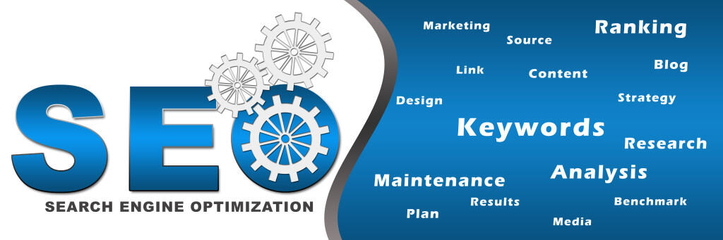 Seo With Gears and Keywords Banner Pakenham
